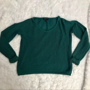 🍃UO By Corpus Emerald Green Open Knit Sweater